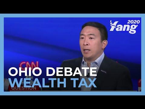 Andrew Yang on Wealth Tax- Ohio #DemDebate