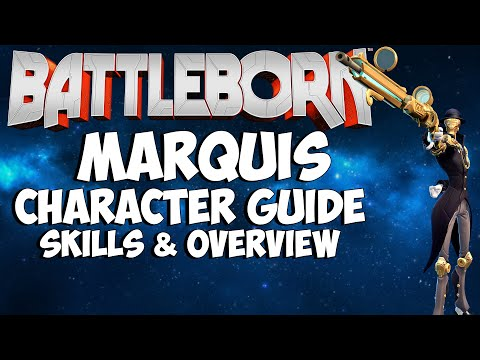 BATTLEBORN - Marquis Character Guide & Skills Overview Tutorial (How to play as Marquis the Sniper)