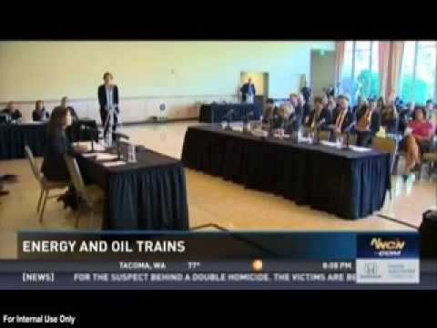 NWCN: Energy Infrastructure and Oil Trains Energy discussed at Seattle Field Hearing