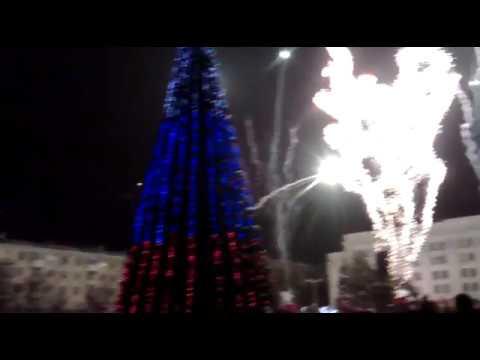 Открытие Новогодней елки в Луганске
