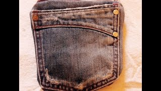 Kreativna udruga Look - Nesseser od recikliranog jeansa - Recycled jeans purse
