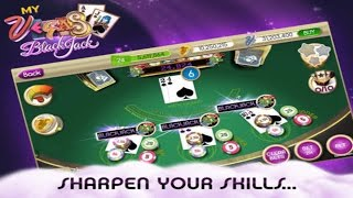 BlackJack - myVEGAS 21 Free Las Vegas Casino Gameplay iOS / Android