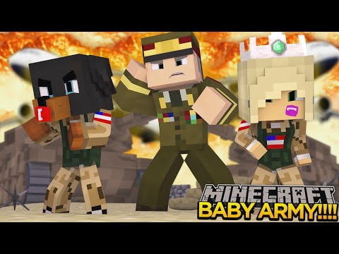Minecraft - Donut the Dog Adventures -BABY MAX JOINS THE ARMY AS PUNISHMENT!!!!
