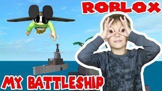 FLYING A JETPACK TO MY BATTLESHIP TYCOON in ROBLOX
