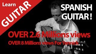LEARN-SPANISH-GUITAR ? MALAGUENA HOW TO VIDEO YOUTUBE STAR (8 millions views)