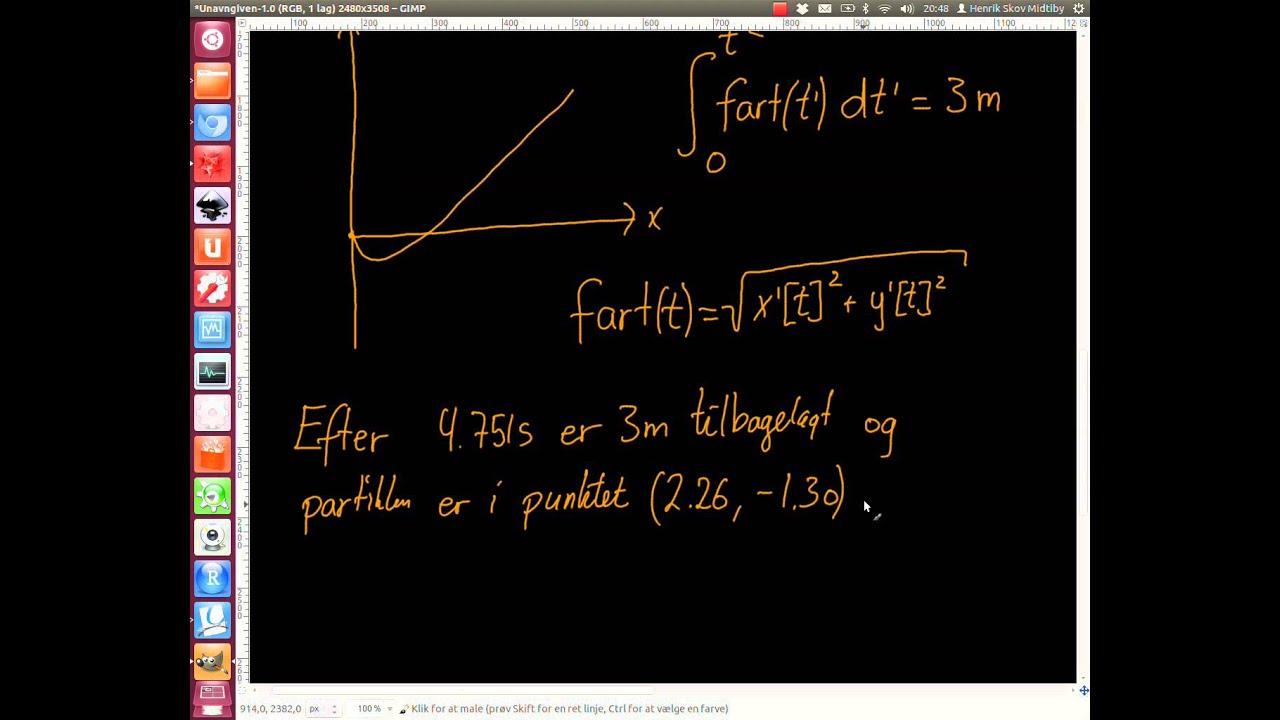 2013-01-04 Opgave 1. Bevægelse af partikel, del 2
