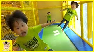 Indoor Fun Playground for Kids and Family Super Slide Rainbow Colors Jump Play | MariAndKids Toys.