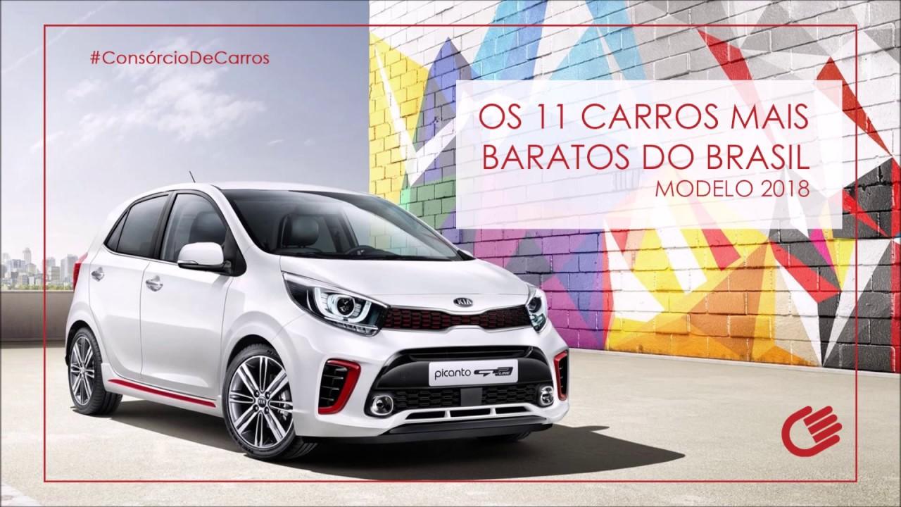 d1b1ce44a95f Os 11 carros mais baratos do Brasil modelo 2018 - YouTube