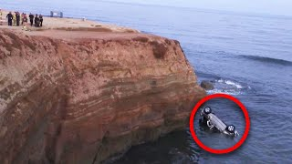 Dad Drives Off Cliff With 2-Year-Old Twins