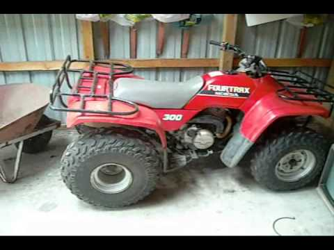 1989 Honda Fourtrax 300 2x4 Youtube