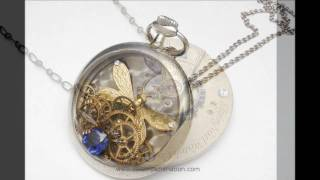 Steampunk Jewelry Designs by Artist Maria Sparks-- Necklaces, earrings, bracelets and rings.