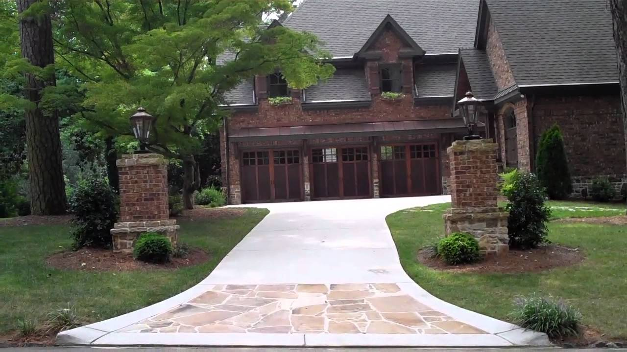 Entry columns on driveway is an elegant touch to a home youtube mozeypictures Images