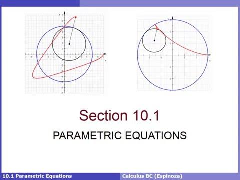 10.1 Parametric Equations