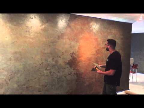 Venetian Plaster RustOn application