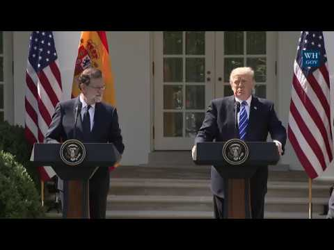 President Trump Holds a Joint Press Conference with President Rajoy