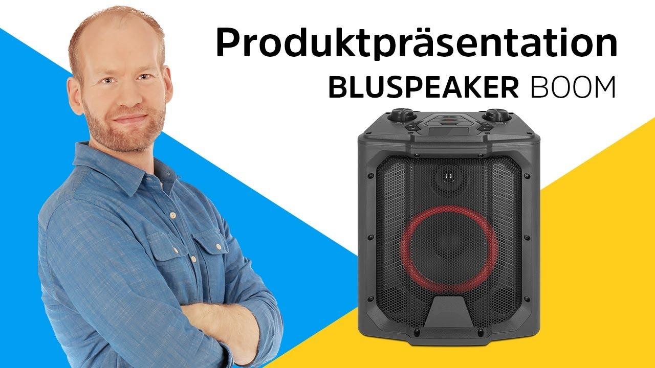 Video: BLUSPEAKER BOOM | Tragbare Bluetooth-Boombox mit Mikrofon- und Gitarreneingang. | TechniSat