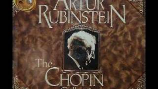 Arthur Rubinstein - Chopin Waltz Op. 69 No. 2 in B minor