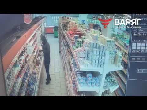 В Челябинске попался магазинный вор.  Видео 24 января 2020