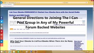 General Directions to Joining The I Can Post Group in Any of My Powerful Forum Backed Websites