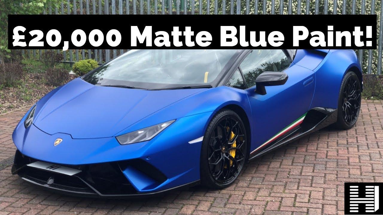 Lamborghini Huracan Performante Spyder - £20,000 Matte Blue Launch Paint - £285,000 supercar