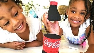 DIY How To Make 'Kinetic Sand Coca Cola'  Foam Soda Pop
