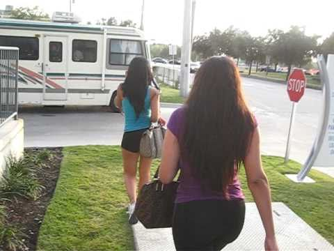 JUST BRITTANY WALKING TO TRAILER ON VIDEO