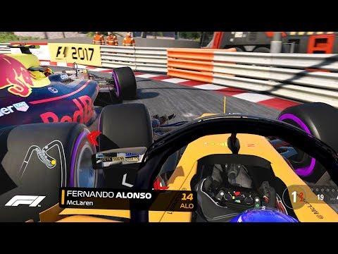SQUEEZED TOWARDS THE BARRIER! F1 2018 Season Mod CAREER Part 6: Monaco
