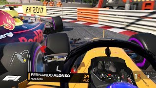 SQUEEZED TOWARDS THE BARRIER! F1 2018 Season Mod CAREER Part 6: Monaco