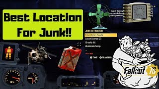 Fallout 76 Best Location To Extract Junk!