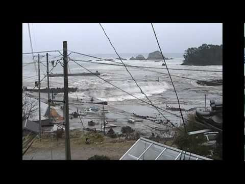 Tsunami at Cape Hirota, near Rikuzentakata, Iwate Prefecture