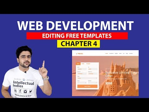 Editing FREE HTML Templates | Web Development Series | Class 4