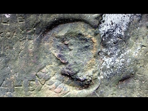 Weird Engravings of Indian God Rock - Petroglyphs Of Pennsylvania