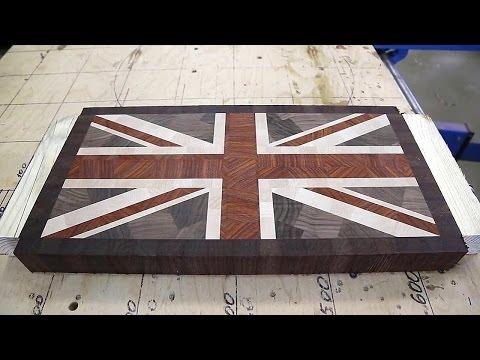 "Making ""Union Jack"" end grain cutting board"