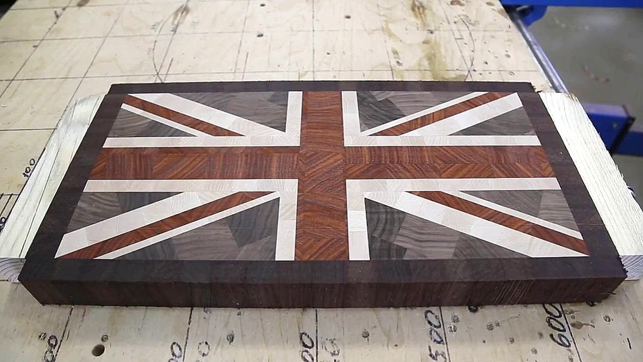 making union jack end grain cutting board youtube. Black Bedroom Furniture Sets. Home Design Ideas