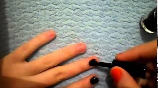 маникюр как правильно красить ногти короткие(Видео урок: В этом видео подробно показывается и описывается техника нанесения ярких лаков на короткие ногти., 2015-01-25T16:37:18.000Z)
