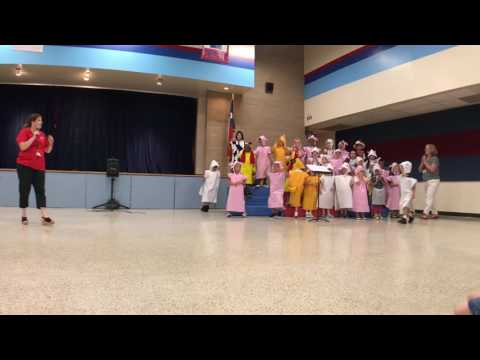 Theiss Elementary School | Kindergarten Farm Musical Program 2017 | Ending