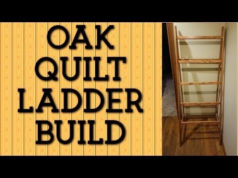 Oak Quilt Rack Build