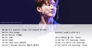 B.I 's COMPILATION UNRELEASED SONG TRACKLIST