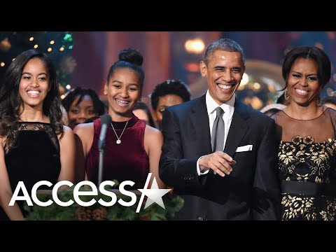 Sasha and Malia Obama Are 'Scared' Of Michelle Obama, Barack Jokes
