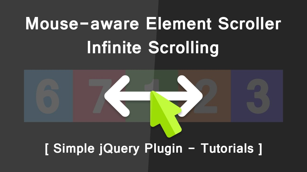 Mouse-aware Element Scroller Infinite Scrolling - Simple jQuery pluging  Tutorials - DIrection Aware