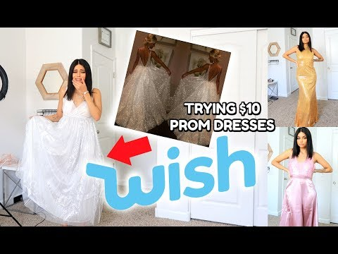 I Tried Prom Dresses From Wish (IM SURPRISED!)