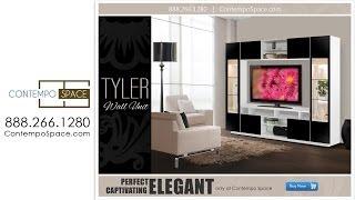 Tyler Wall Unit w Clear Glass Doors, Interior Backlight Item : 2651