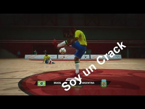 Futbol Sala - Partidazo Brasil Vs Argentina, Messi, Que Pesadilla!!  - Fifa Street