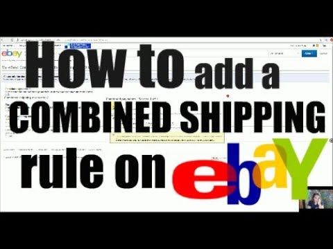 How to add Combined Shipping into your eBay rules! Account Settings