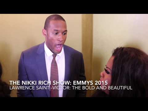 The Nikki Rich  talks with Lawrence SaintVictor at Emmys 2015