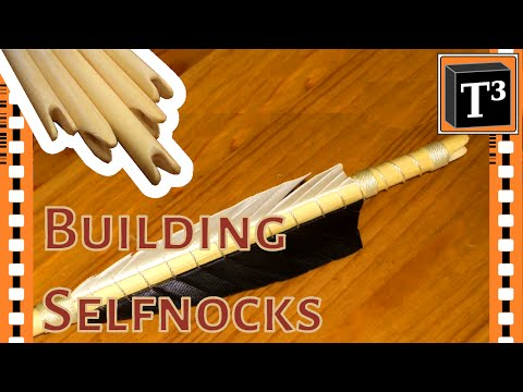 How To Make A Selfnock ▪ Traditional Wooden Arrows