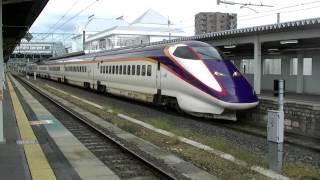 米沢駅に到着する普通列車と・・・新幹線!?