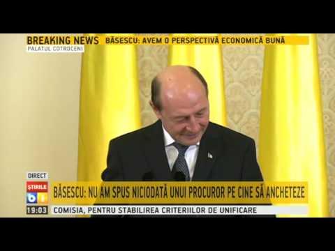 Ultima conferinta de presa sustinuta de Traian Basescu in calitate de sef al statului