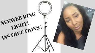 Easy Tutorial! How to Put Neewer Ring Light Together!