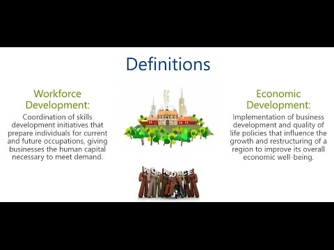The Role & History of Workforce Development through 1998 Workforce Investment Act